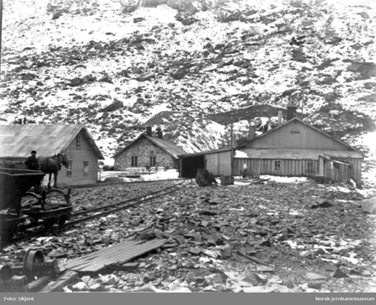 Bergensbanens anlegg; smie og maskinhus på Myrdal