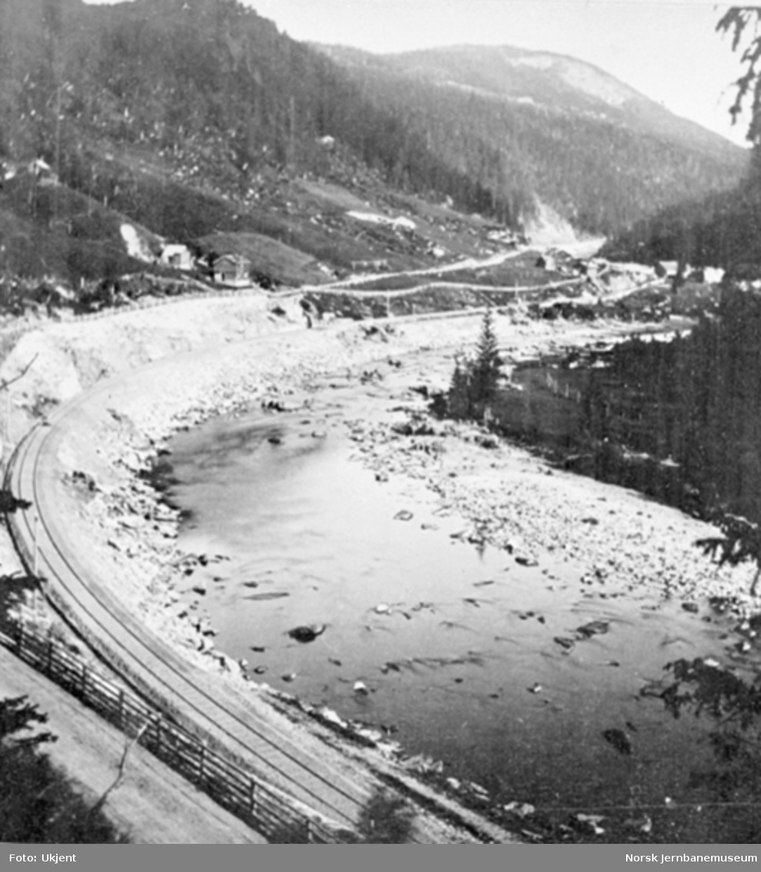 Jernbanelinjen ved Almåskroken