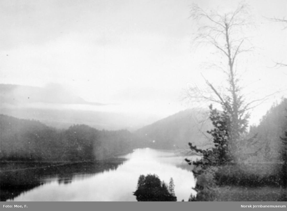 Utsikt fra Bukkefjell utover Langen