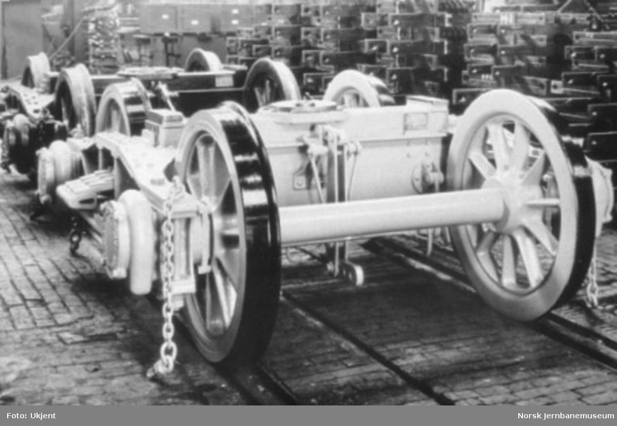 Byggingen av damplokomotiv type 49c, tenderboggier