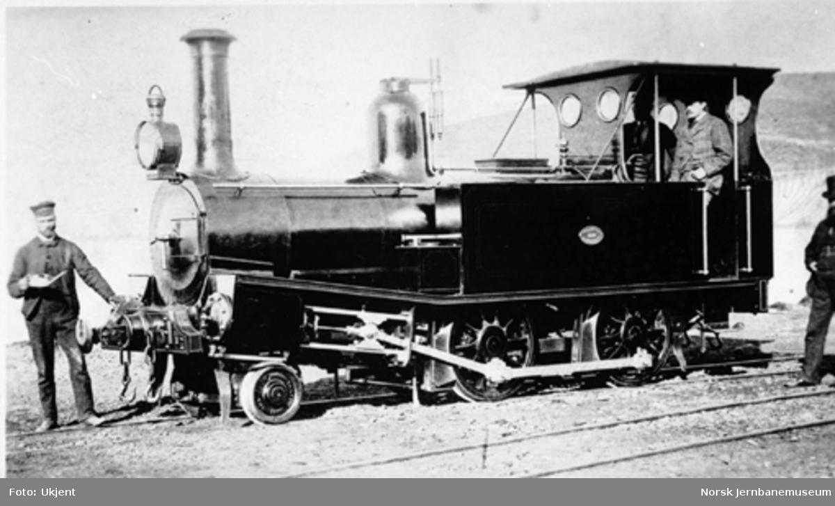 New Zealand Railways damplokomotiv class D, bygget av Neilson i Glasgow 1878. Et lok med stor likhet med Trygve-klassen.