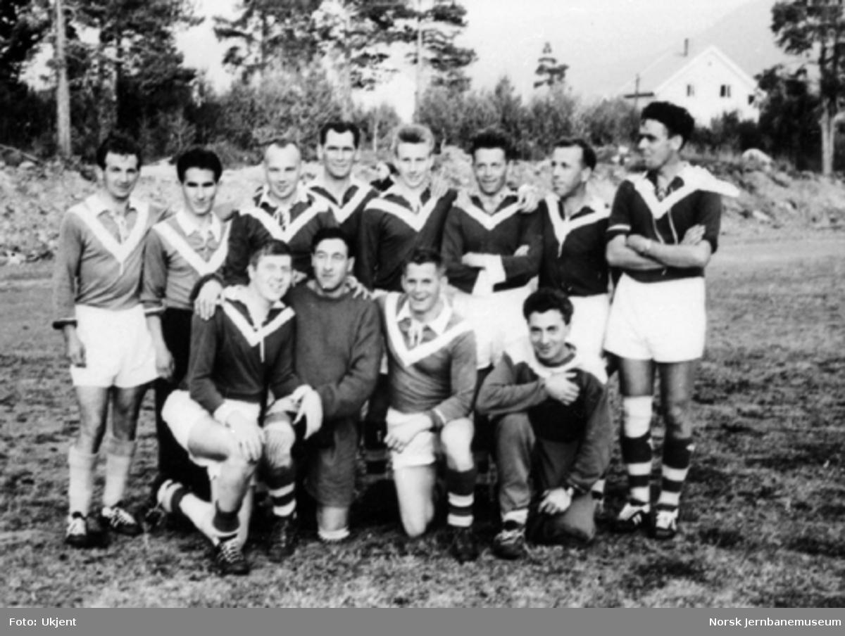 Laget fra NSB Hamar, som ble norsk jernbanemester i fotball ved Jernbane-NM på Oppdal 1964
