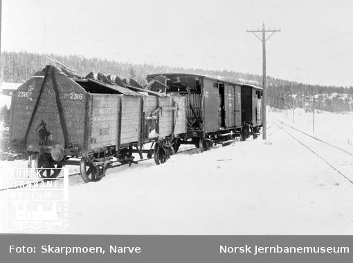 Avsporing ved Kolbotn, tog 38, ødelagte godsvogner