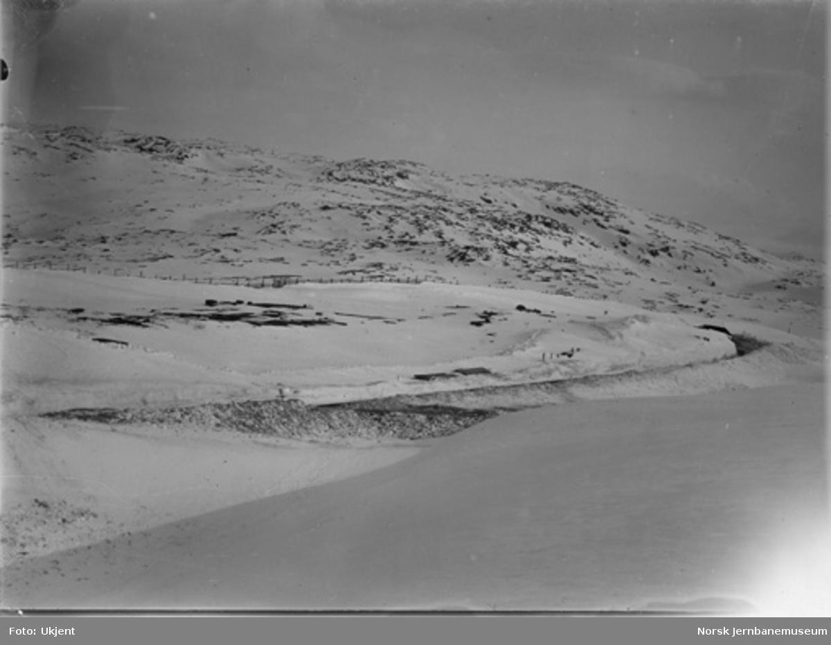 Linjen ved Bjørnfjell km 39,40