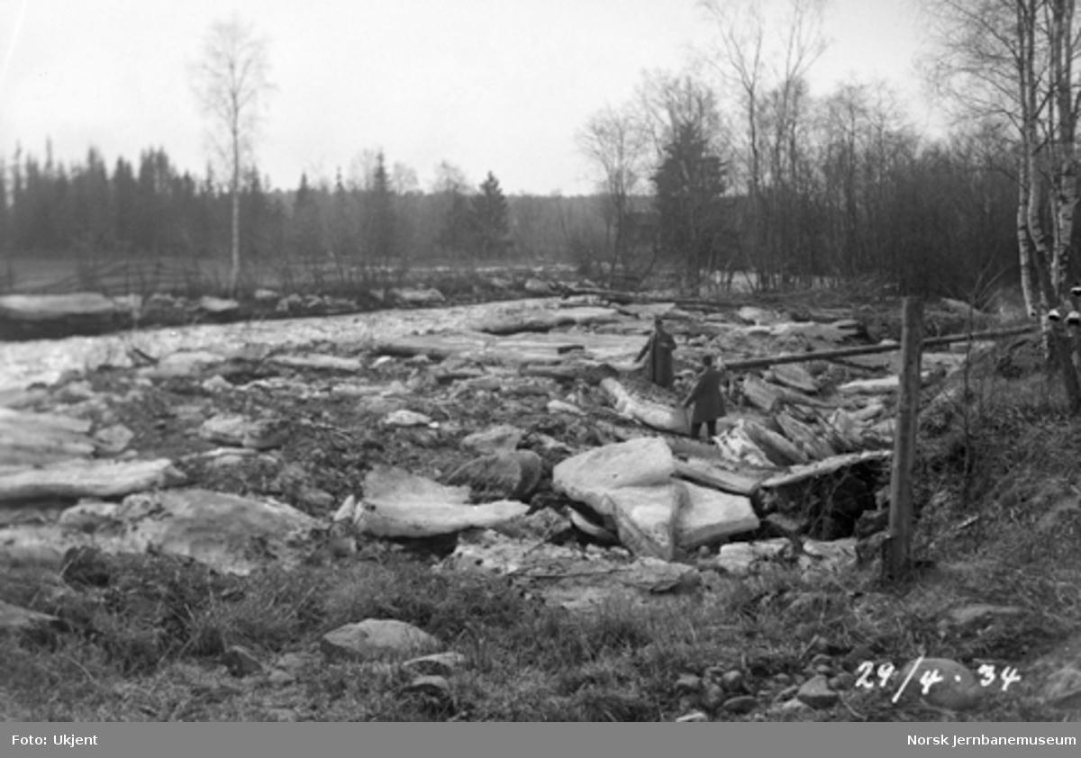 Isgang i Fura elv ved Hørsand