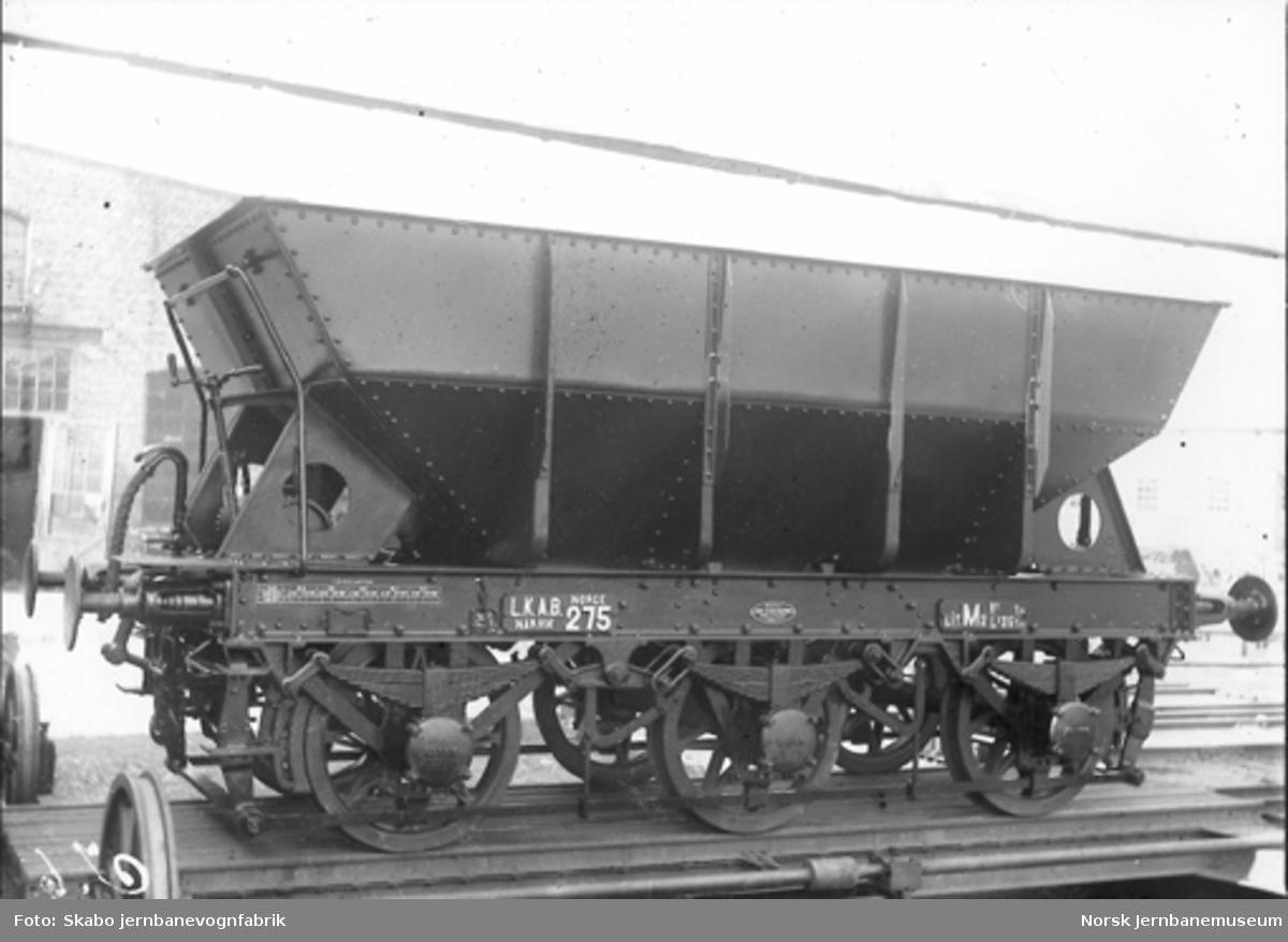 LKABs malmvogn litra M2 nr. 275 på Skabo Jernbanevognfabrik