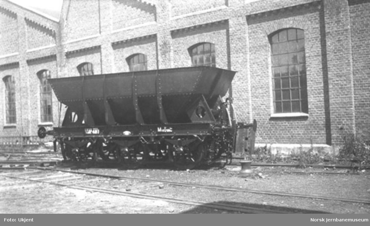 LKABs malmvogn litra Mas nr. 497 på Skabo Jernbanevognfabrik