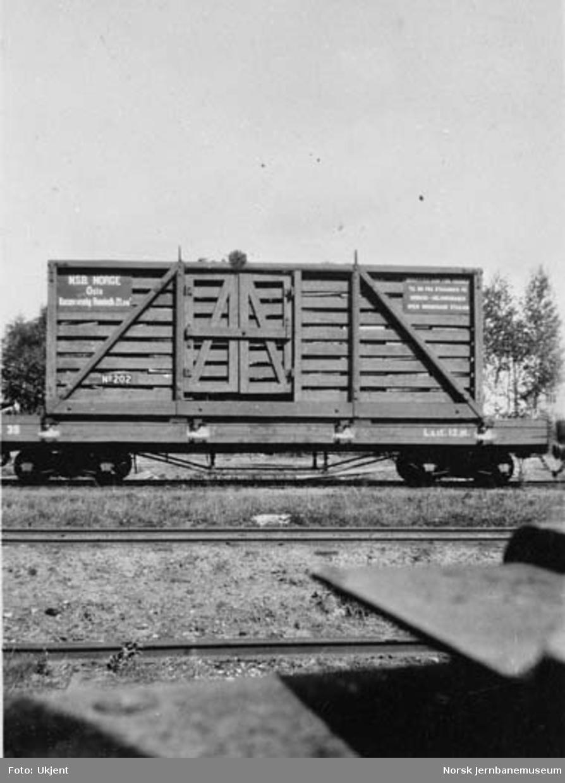 Løftekasse nr. 202 på Aurskog-Hølandbanens vogn litra No nr. 39