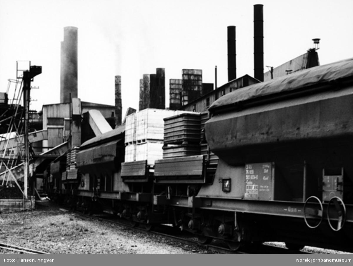 Spesialgodsvogner litra Tadss for transporter for Meråker Smelteverk