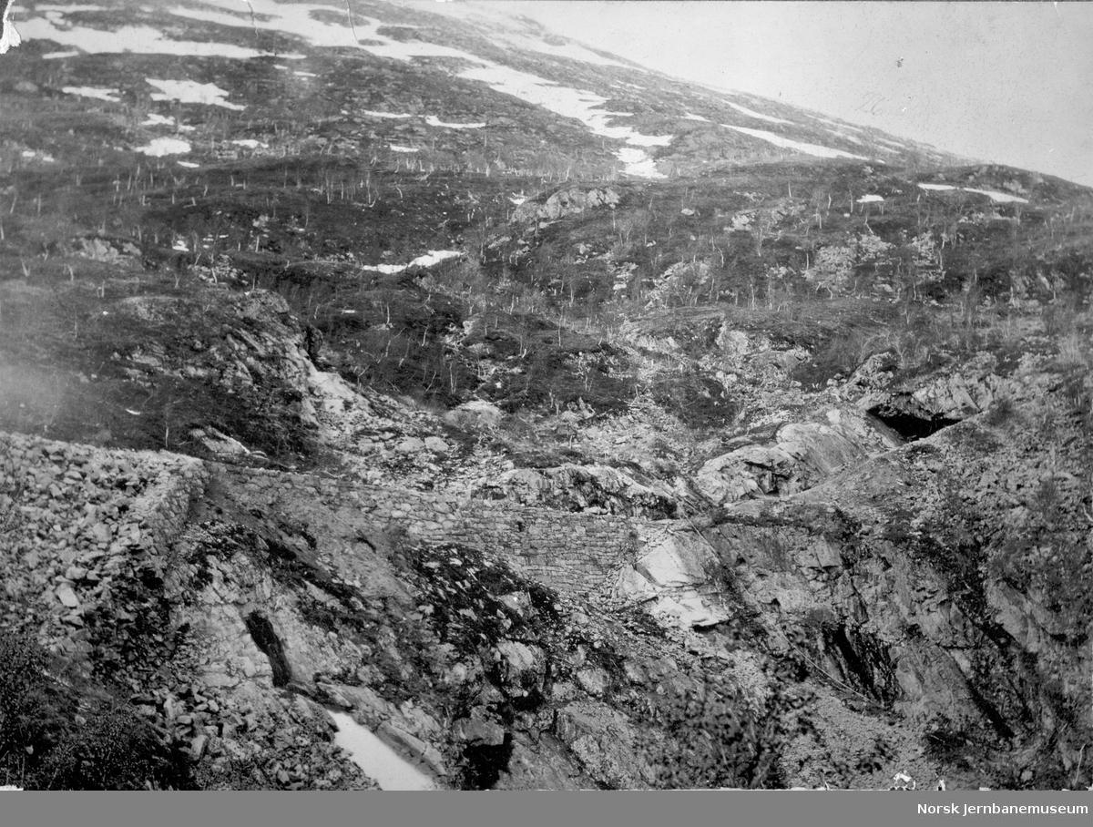 Jernbanetraseen i Ytre Sildvik, km 20,3
