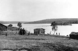 Skolteboplass på Nakholmen, Vaggetem, Finnmark, før 1900. St