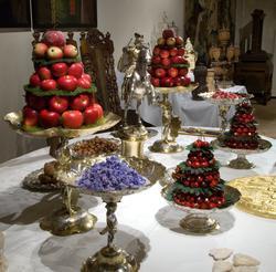 Utställningen Dukade bord. 1500-talets 1600-talets festmålti
