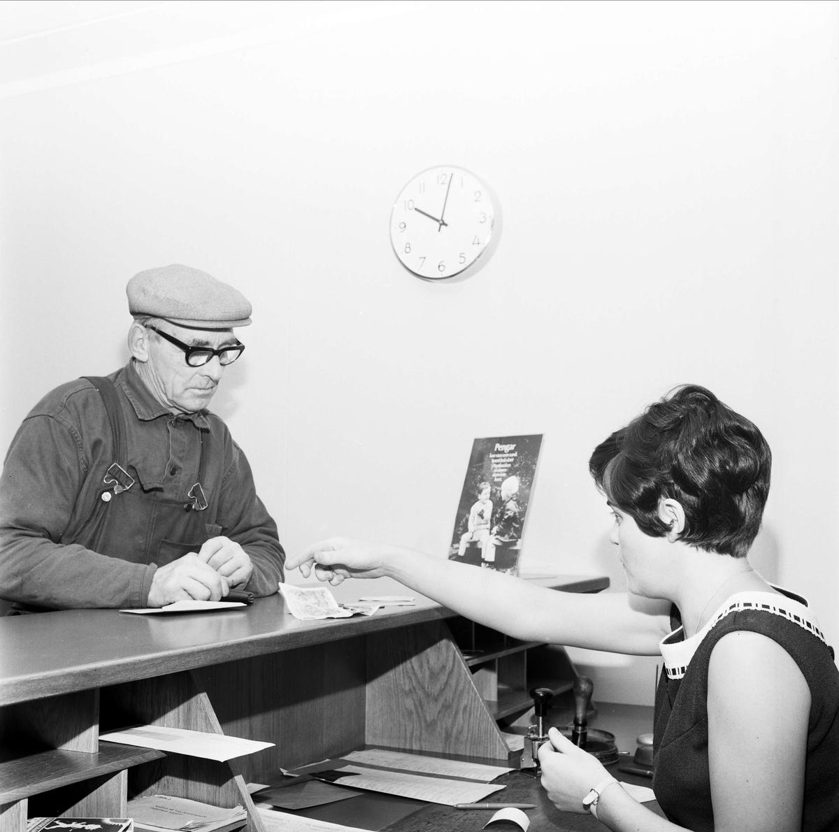 """""""Ny poststation i Månkarbo"""", Tierps socken, Uppland 1967"""