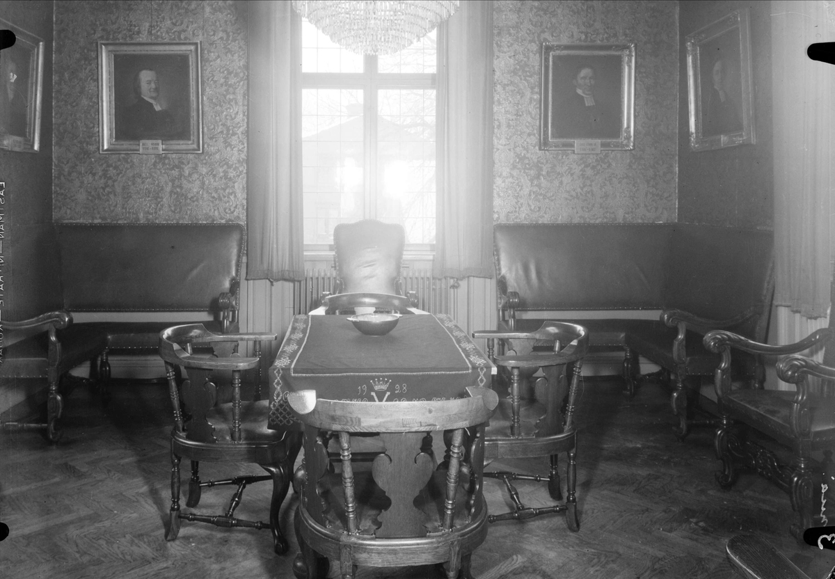 Interiör - Västgöta nation, Västra Ågatan, kvarteret Kaniken, Uppsala 1937