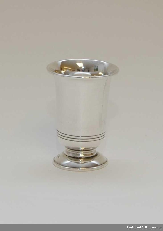Pokal, beger. Sølv, stemplet 8305 L0 Y4.