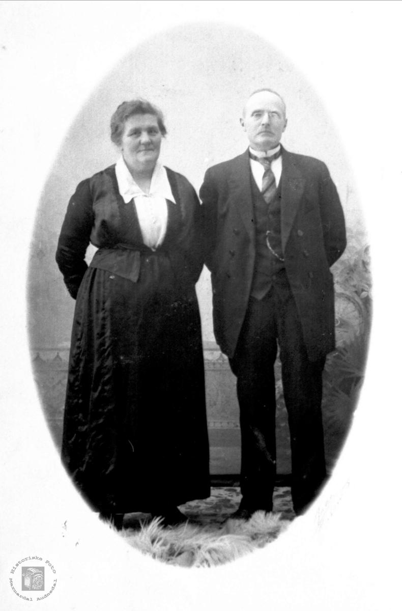 Portrett av ukjent ektepar fra Sørlandet.