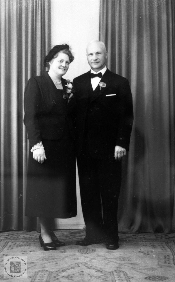 Brudeparet Jenny Ødegård og Lars Gjøsæther