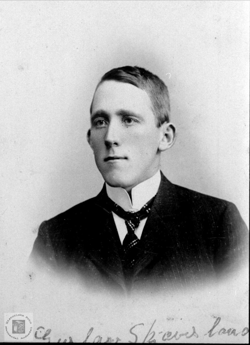 Portrett av Gustav Kristenson Skjævesland, Øyslebø.