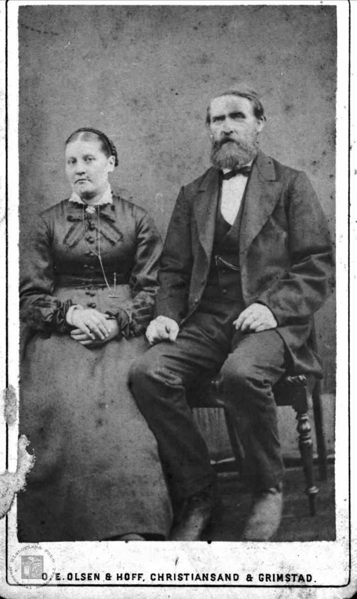 Ekteparet Randi og Ole Heddeland, Øyslebø.