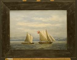Engelsk orlogssjalupp 'The Hawk' erobret av norsk fartøy ved