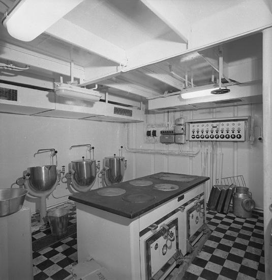 Interiör från fartyget 158 M/T Stora, kök.