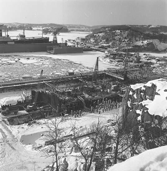 Byggnation av stapelbädd IV, Sörvik.