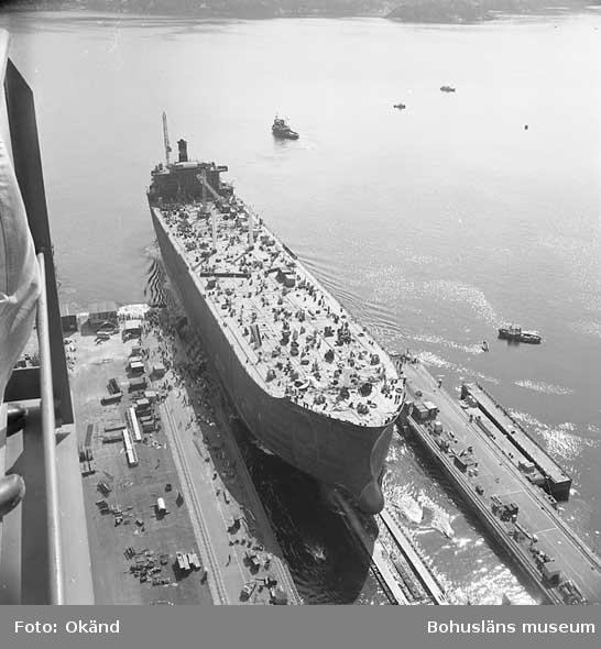 Sista sjösättningen från stapelbädd IV, fartyg nr. 296 M/T Curro.