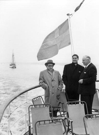 Båtutflykt till Göteborg i samband med det colombianska besöket.