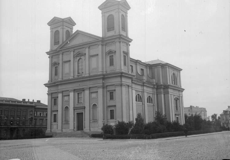 """Enligt text som medföljde bilden: """"Carlskrona. Fredrikskyrkan 23/9 07."""" ::"""