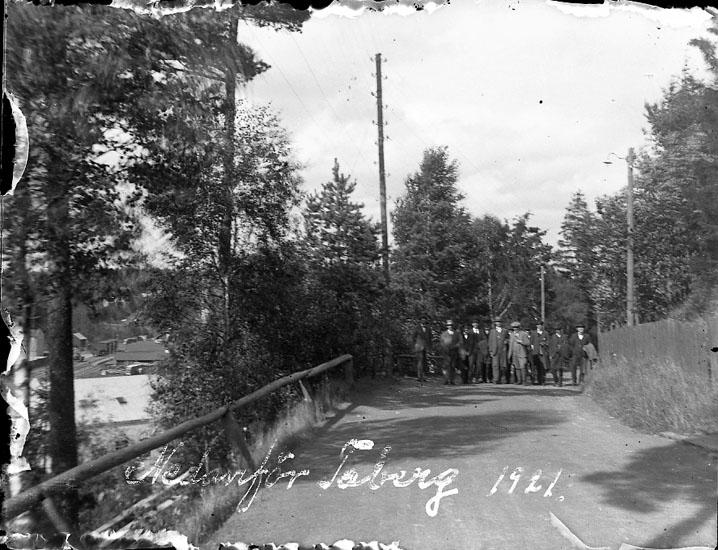 """Enligt text på fotot: """"Nedanför Taberg 1921""""."""