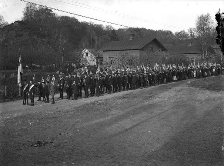 """Enligt fotografens noteringar: """"den 6-t November 1916. Ledare Viktor Lindqvist."""""""