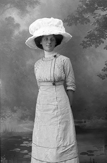 """Enligt fotografens journal Lyckorna 1909-1918: """"Nilsson, Fr. Lyckorna""""."""