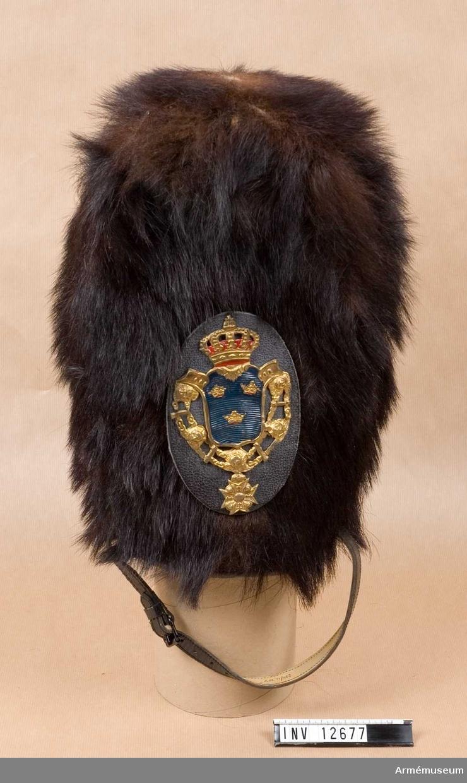 C I.  Läderplatta med emblem.