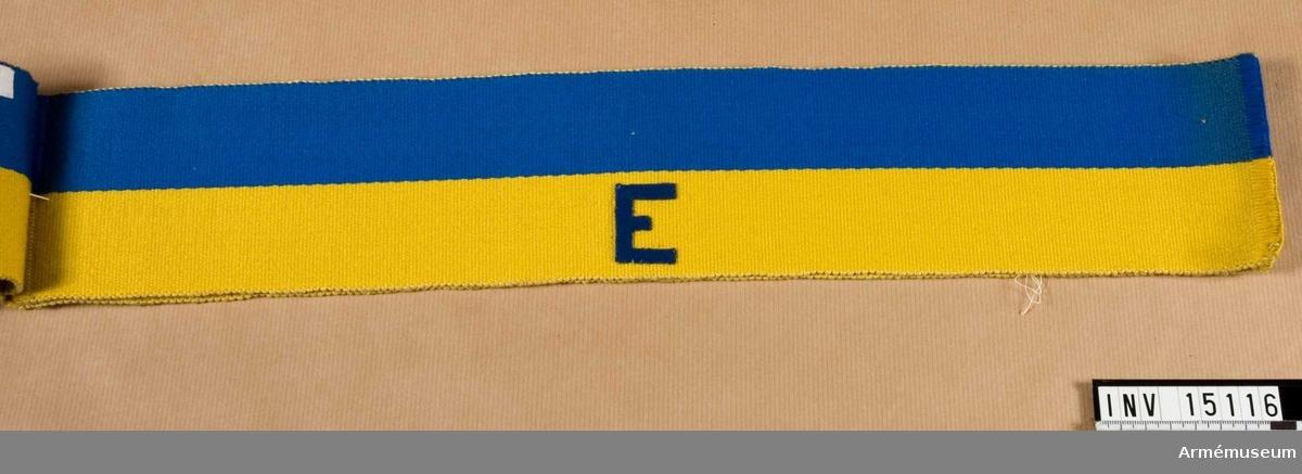 Grupp C I. Blå och gul. Märkt E.