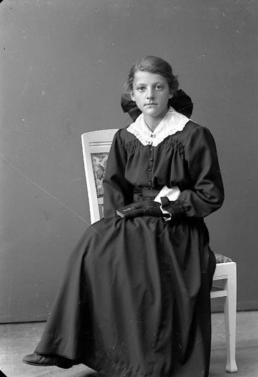 "Enligt fotografens journal nr 3 1916-1917: ""Abrahamsson, Klara, Inlag Stenungsund""."