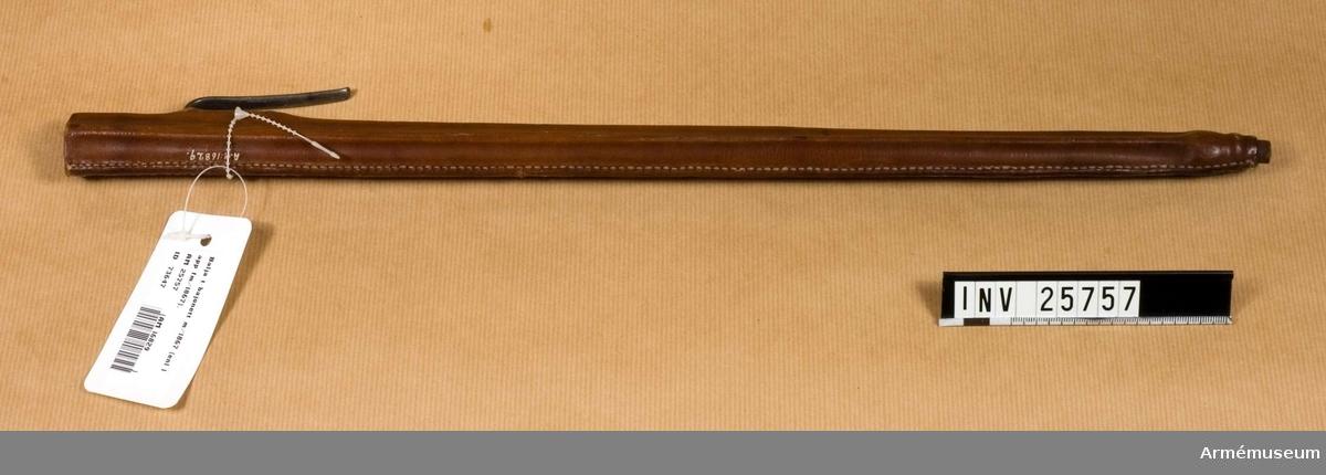 Grupp E II f Bajonettbalja till gevär m/1868.  Samhörande nr AM.25755-7