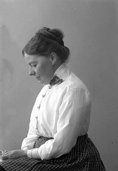 """Enligt fotografens journal nr 4 1918-1922: """"Parker, Fr. Adeline Göteborg""""."""