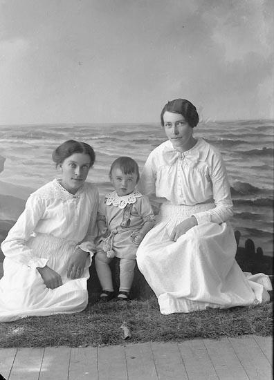 """Enligt fotografens journal nr 3 1916-1917: """"Nilsson, Augusta Brudhammar Här""""."""