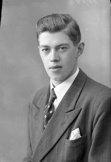 """Enligt fotografens journal nr 7 1944-1950: """"Andersson, Herr Gunnar Box 59 St. Höga""""."""