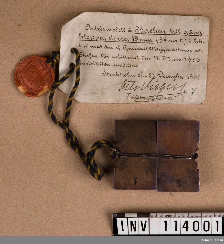 Backar för gängning m/1896
