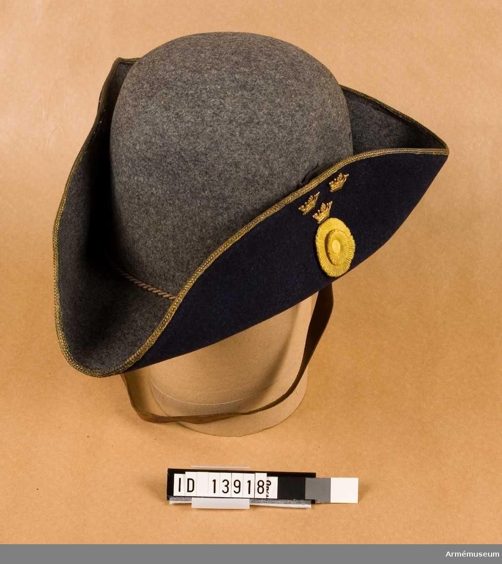 Grupp C I. Samhörande uniform bestående av: vapenrock med axeltränsar, långbyxor, ridbyxor, hatt m/1910 (1906).
