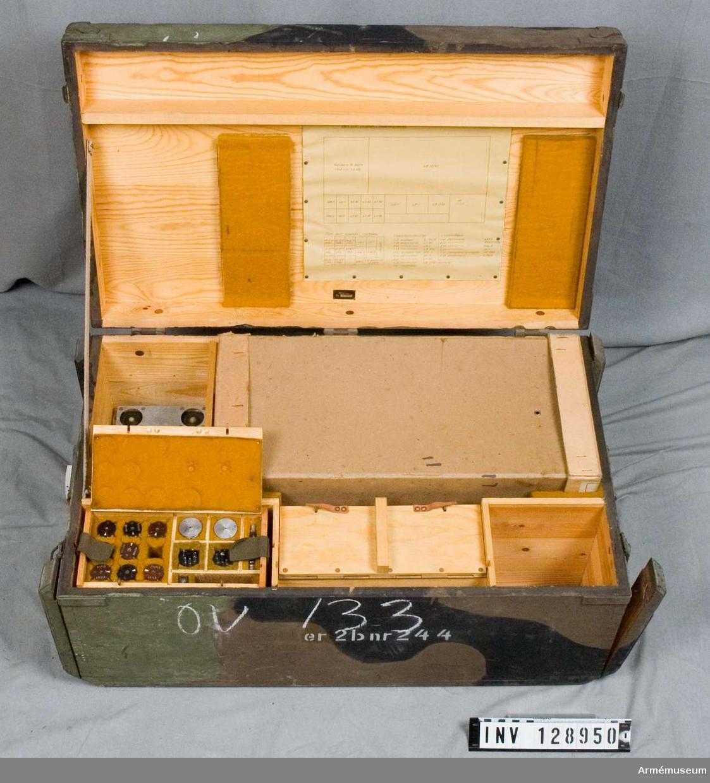 Nr 244.   I kamouflagemålad låda.