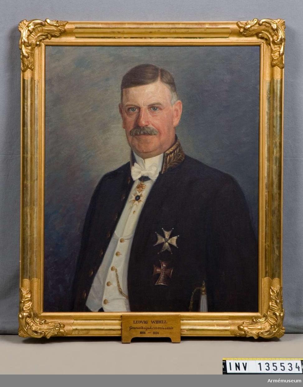 Oljemålning föreställande Ludvig Widell, generalkrigskommisarie 1926-34.