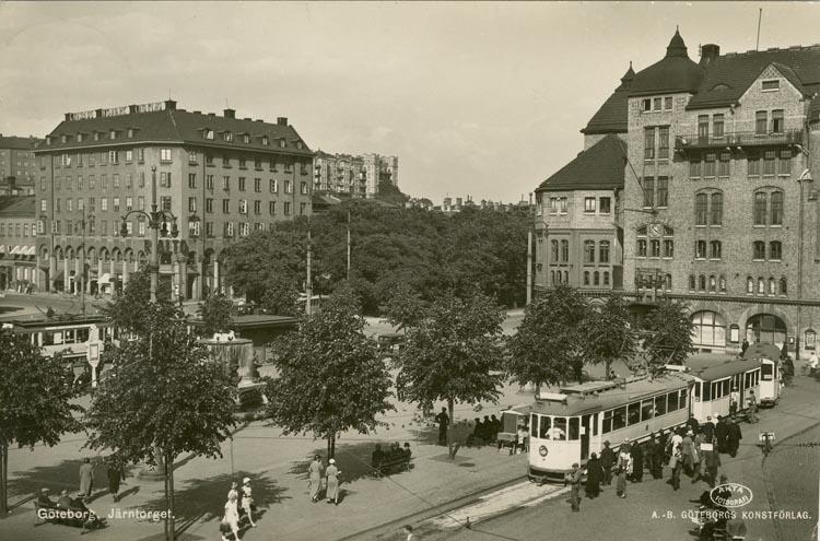 Notering på kortet: Göteborg. Järntorget.