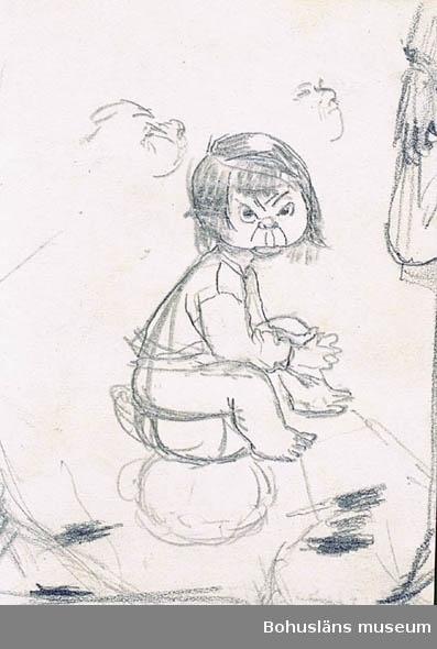 Barn på potta