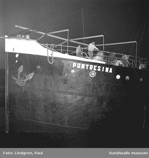 """Fartyget """"Pontresina""""."""