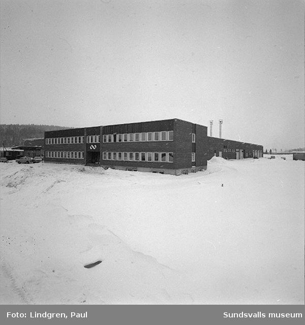 Kooperativa Förbundets lagercentral, invigd 1968-02-09. Kontorsdelen.