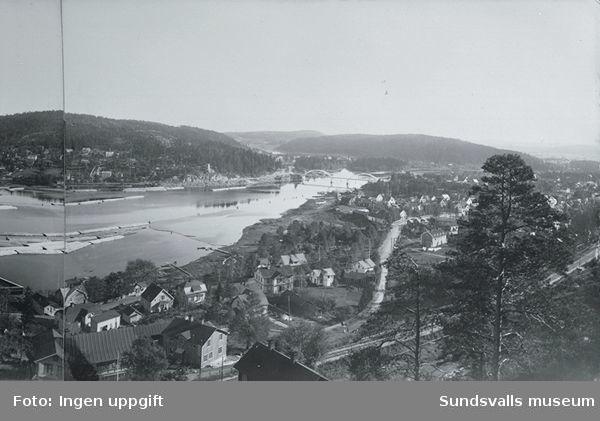 Svartviksbukten och Ljungans utlopp. Harabergsbron, byggd så att den skulle kunna göras öppningsbar om det blev nödvändigt.
