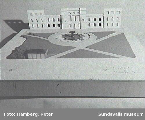Modellförslag/ skisser för parken Hedern.