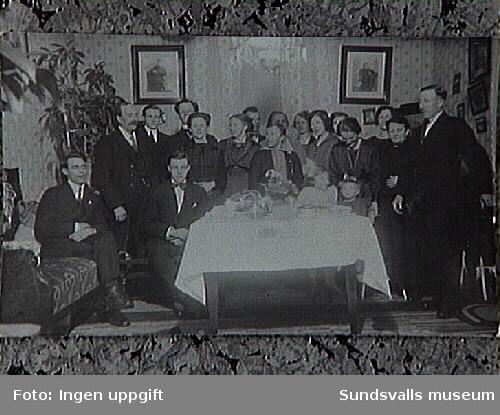 Kalas hos familjen Grönlund.